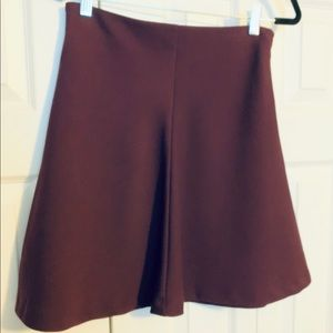 Mercer & Madison Maroon Skater Skirt